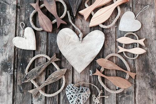 Srčki iz lesa - vintage