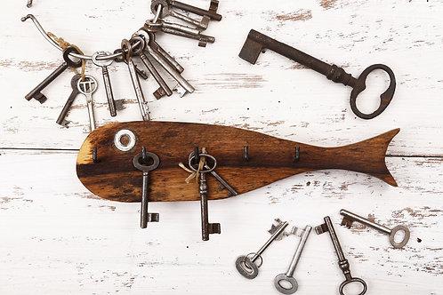 Obešalnik za ključe ali nakit S