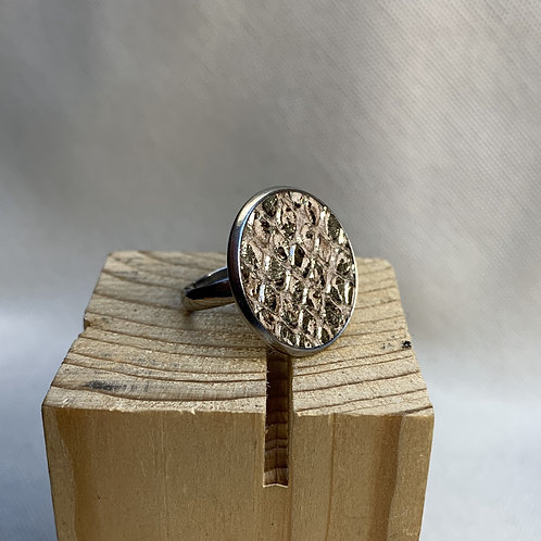 Flat leather ring