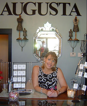 Jewelry Artist Emily Wimbush in her Atlanta studio Augusta Designs