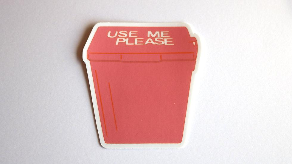 Use Me Sticker