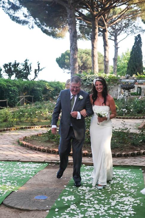 Giving Her Away At Idyllic Villa Cimbrone