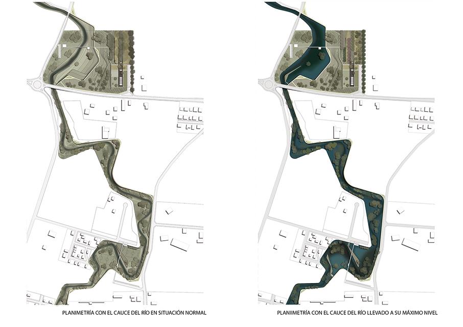 planimetría parque lineal