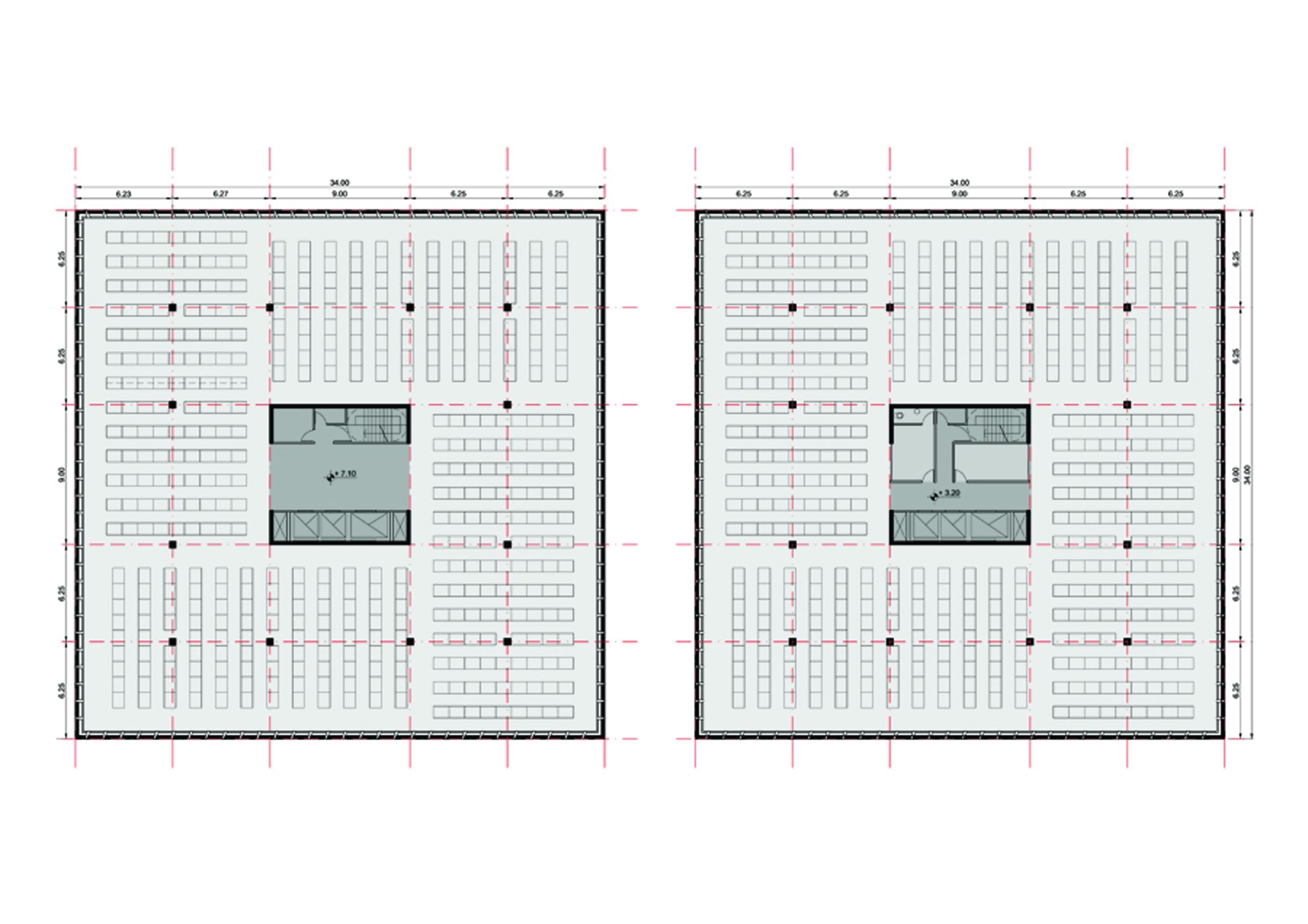 plantas 2º a 4º piso