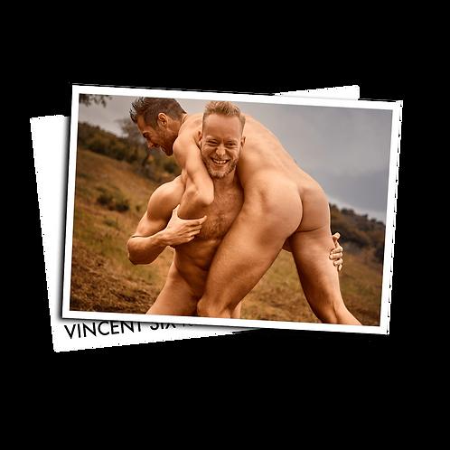 Fighting - Postcard
