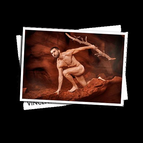 Caveman - Postcard