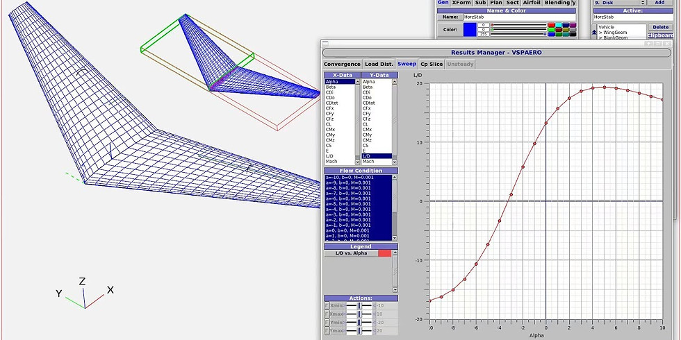 Modeling Eagle Ray with OpenVSP