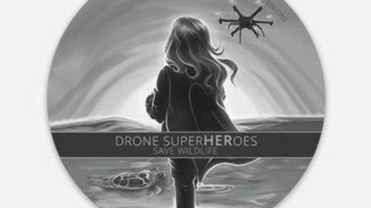 SuperHEROES Drone Girls Button