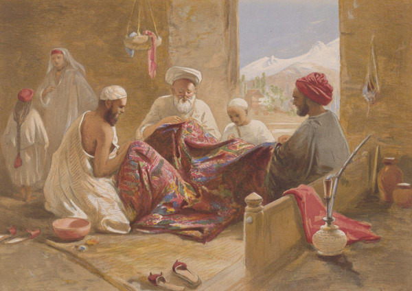 Kashmir Shawl Factory  This chromolithograph is taken from William Simpson India