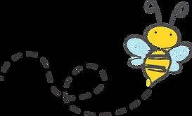 un disegno di un'ape stilizzata