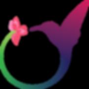 Il logo dell'associazione: aun cerchio aperto i cui capi rappresentano rispettivamente una ginestra ed un colibrì