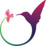 Il logo dell'associazione: un cerchio aperto i cui capi rappresentano rispettivamente una ginestra ed un colibrì
