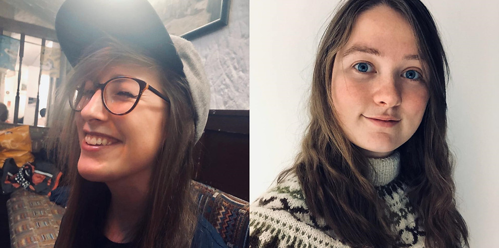Portraits of Georgia Higgins and Johanne Bergill of Polargryph