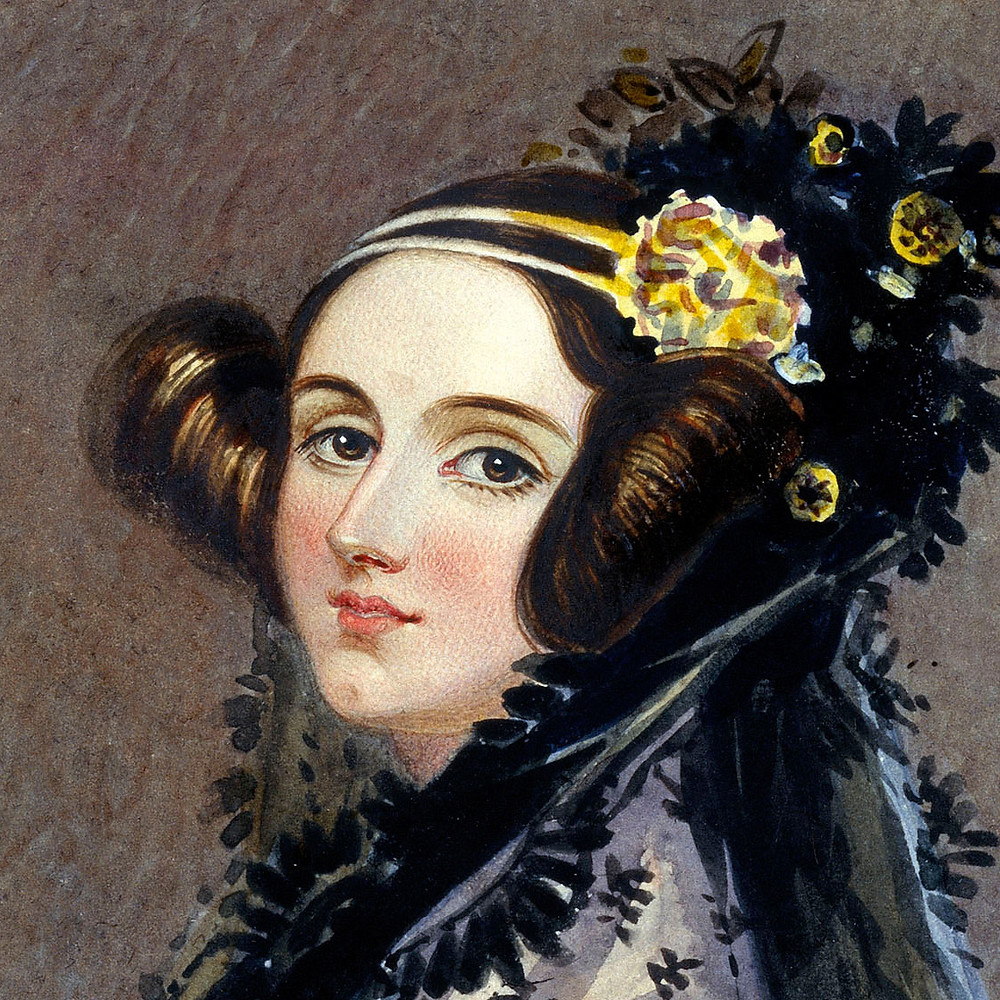 Portrait of Ada Lovelace in 1840, possibly by Alfred Chalon
