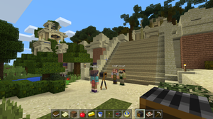 A screenshot of Minecraft: Education Edition, by Mojang AB