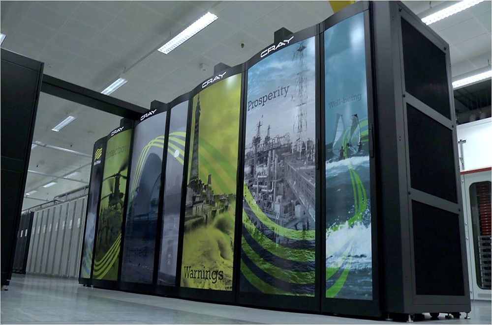 Cray supercomputer at the UK Meteorological Office