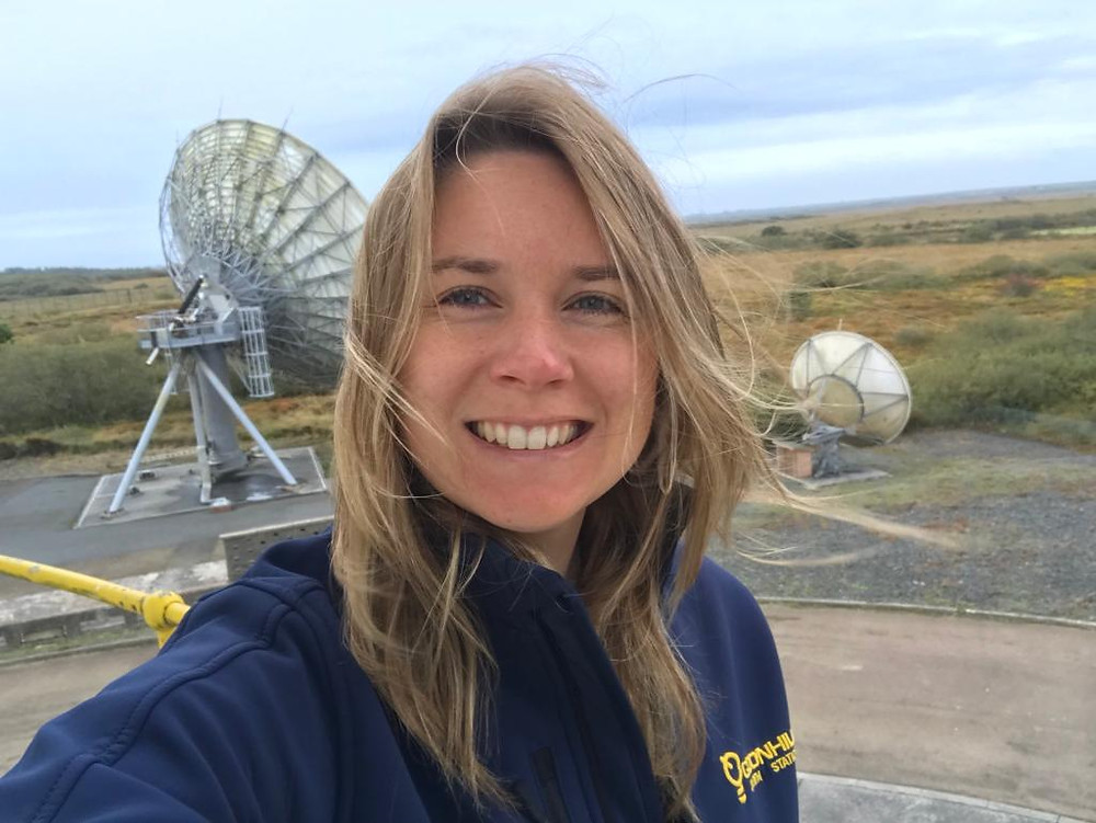 Olivia Smedley, graduate space scientist at Goonhilly Earth Station