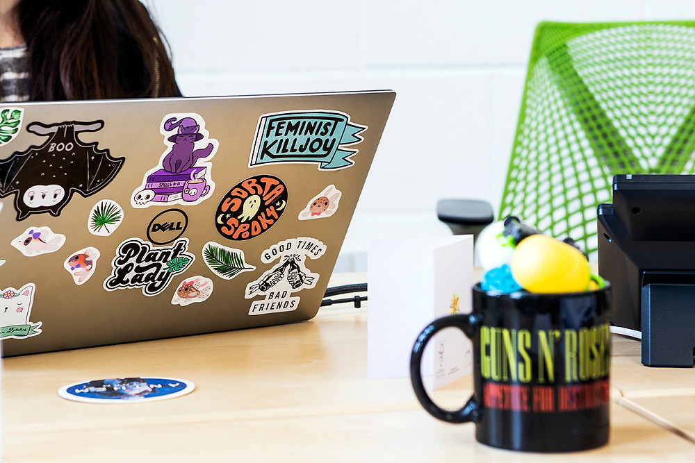 Katy Eddy's desk at Radix Communications