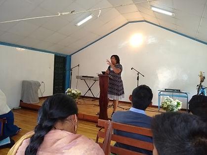 Bernice speaking in church.jpg