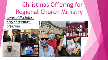 Christmas Offering for Regional Church M