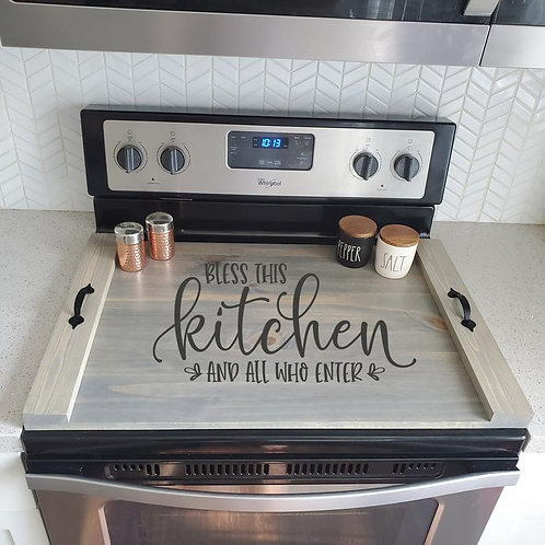 Bless this Kitchen Stove Cover