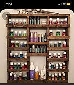 Custom Essential Oils Shelf