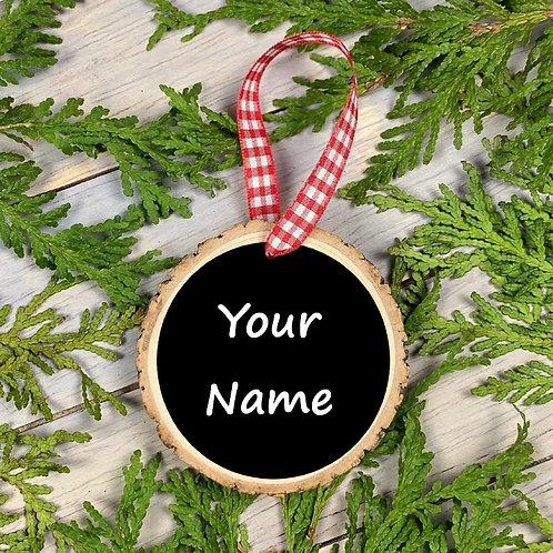 Personalized Wood Sliced Ornament