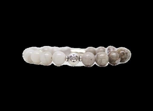 Beaded-White/Cream