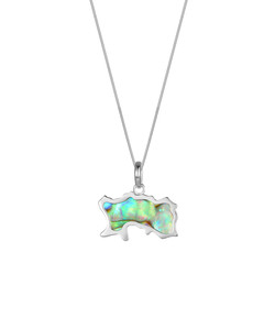 Jersey Map Abalone Necklace