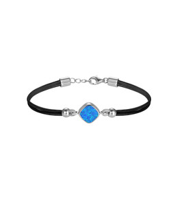 Opal Leather & Silver