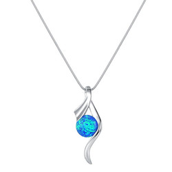 Swirl Opal Necklace