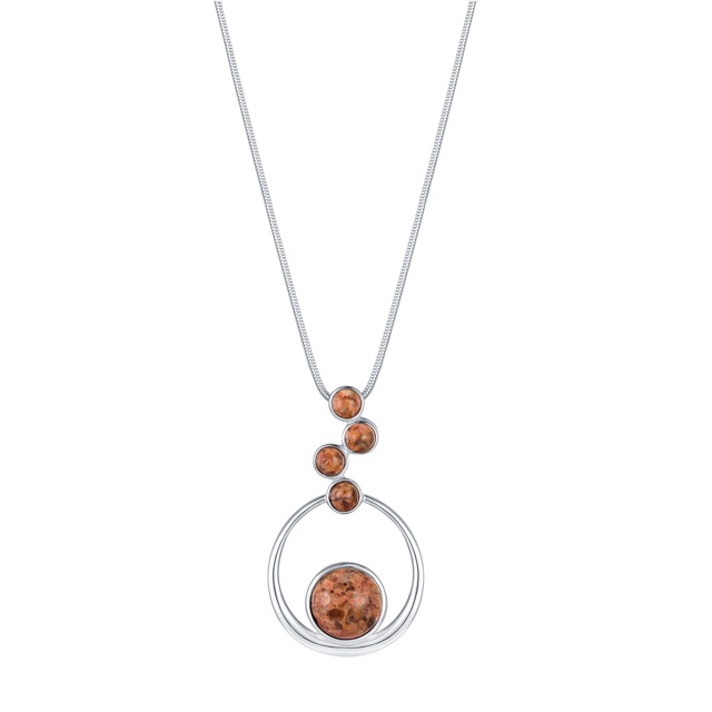 Jersey Granite Floating Circles Necklace