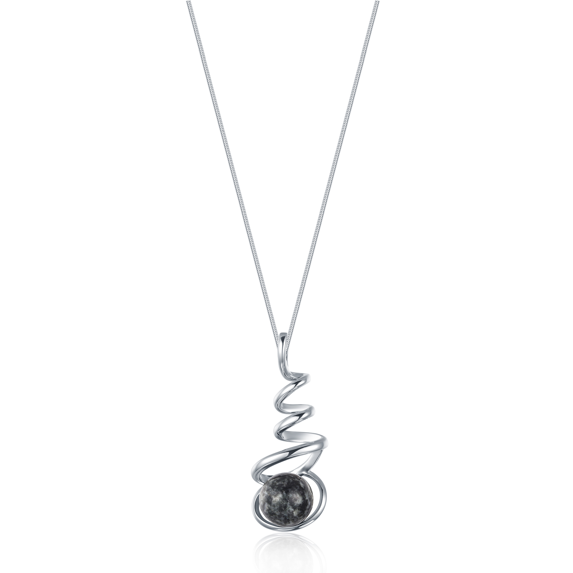 Granite Spiral Necklace
