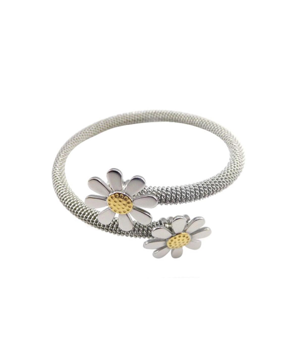 Daisy Steel Wrap Bracelet