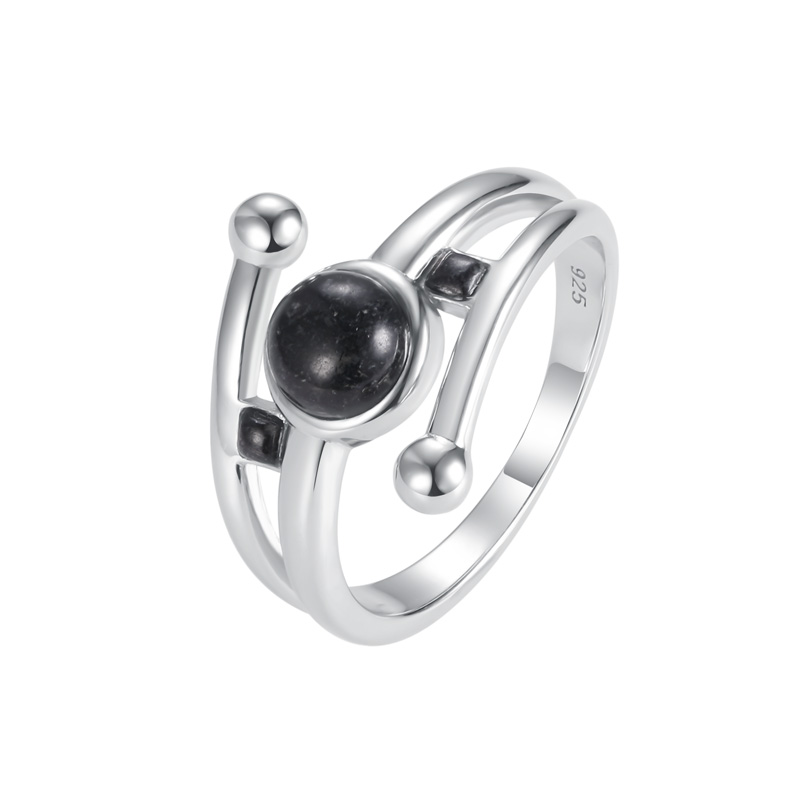 Round & Square Granite Ring