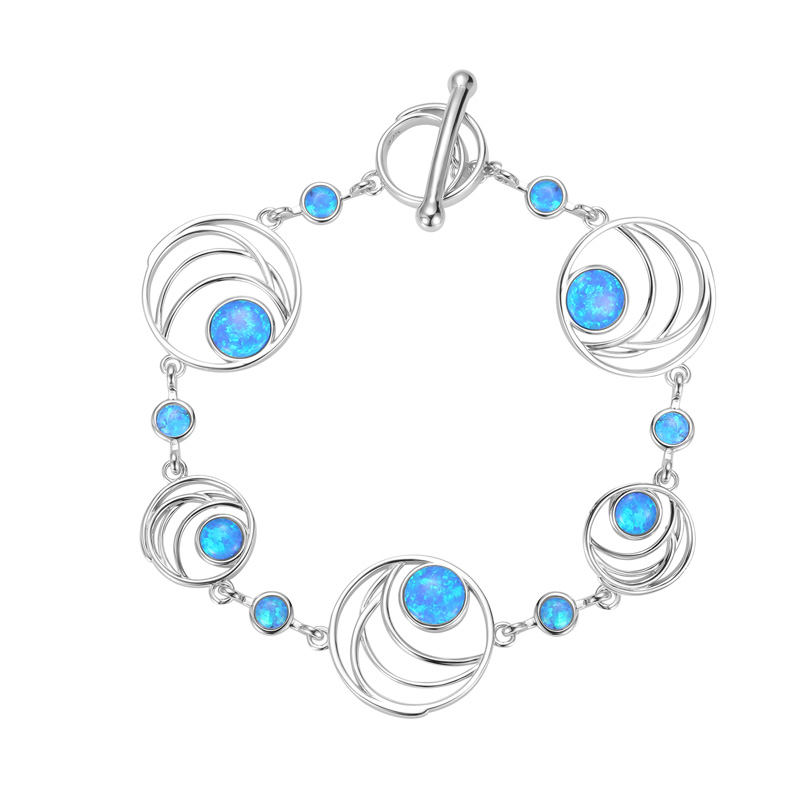 Abstract Curves Opal Bracelet