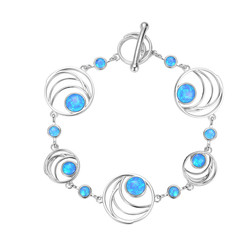 Abstract Curves Opal Bracelet
