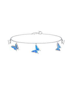 Opal Butterfly Ankle Bracelet