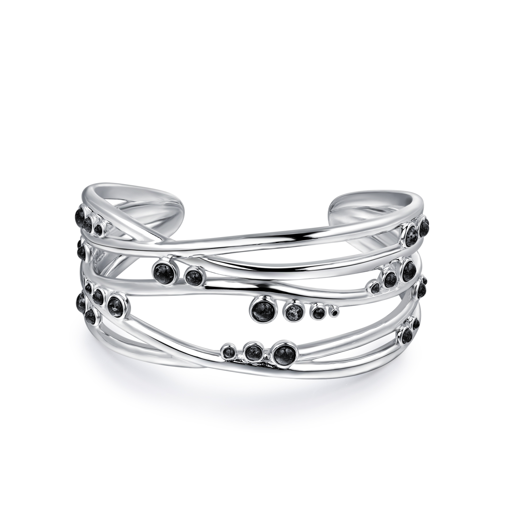 Jersey Granite Solid Lines Bangle