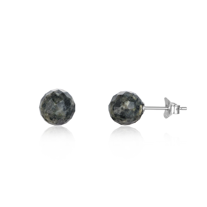 Jersey Granite Faceted 8mm Studs