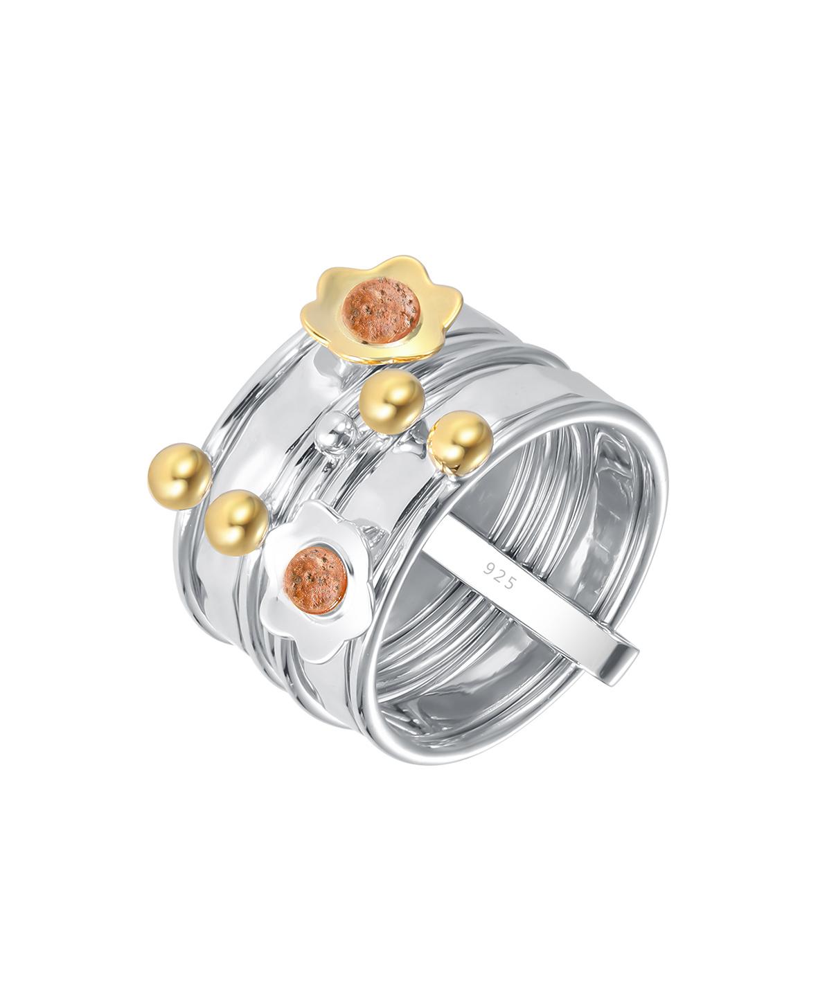 Jersey Granite Daisy Ring