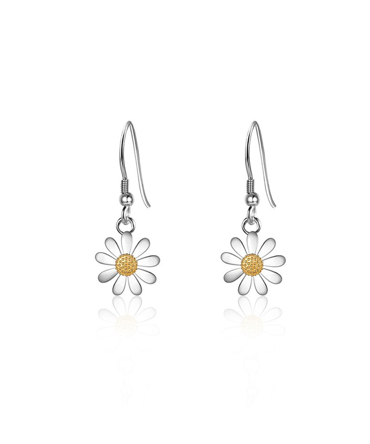 10mm Daisy Drop Earrings