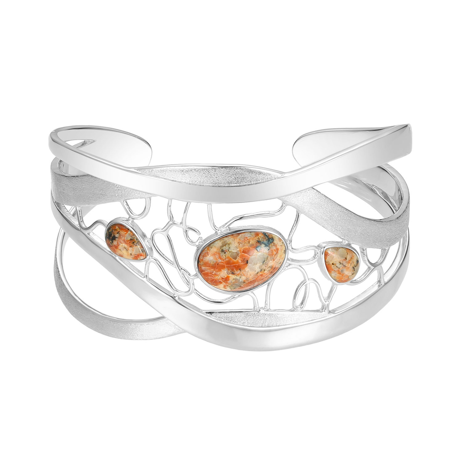Jersey Granite Wire Maze Bangle