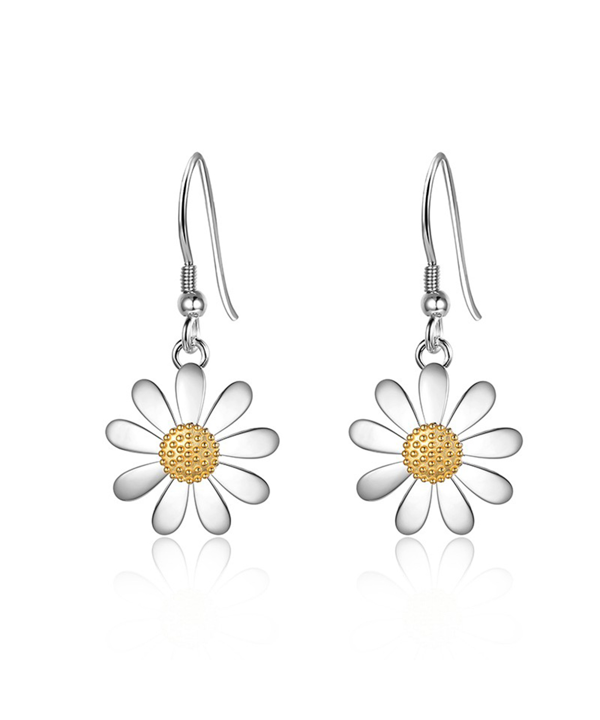 14mm Daisy Drop Earrings