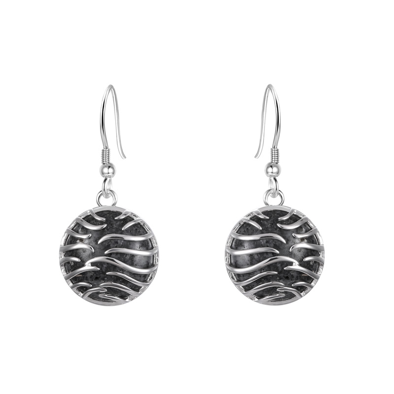 Ocean Wave Granite Earrings