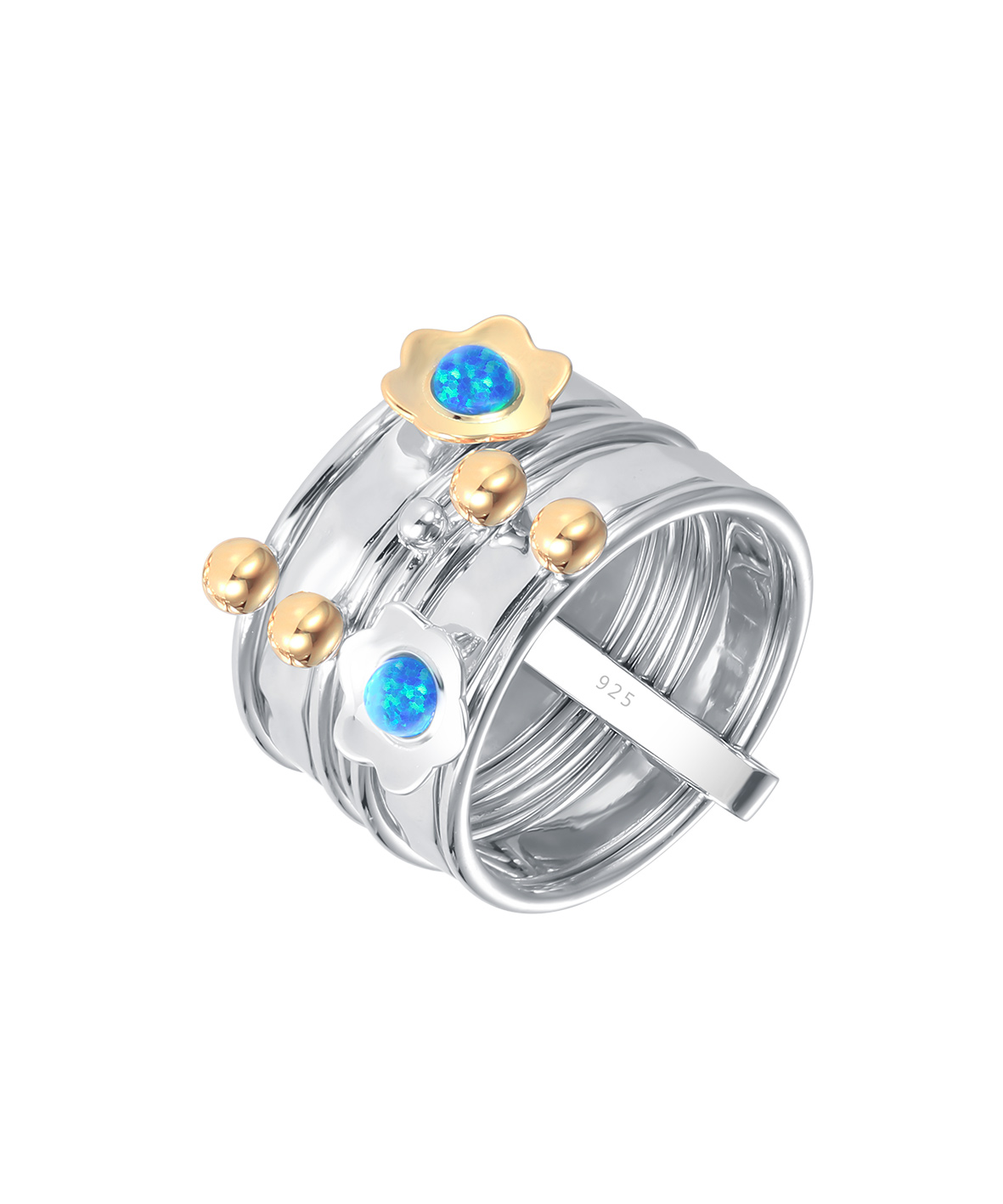Opal Daisy Stacking Ring