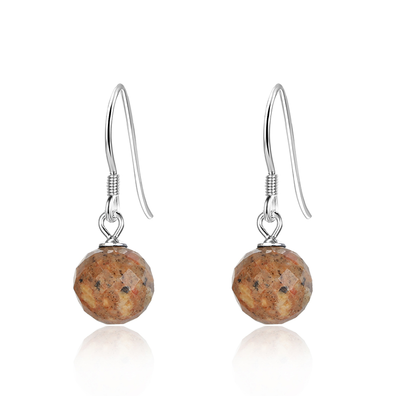 Jersey Granite Faceted 8mm Drops