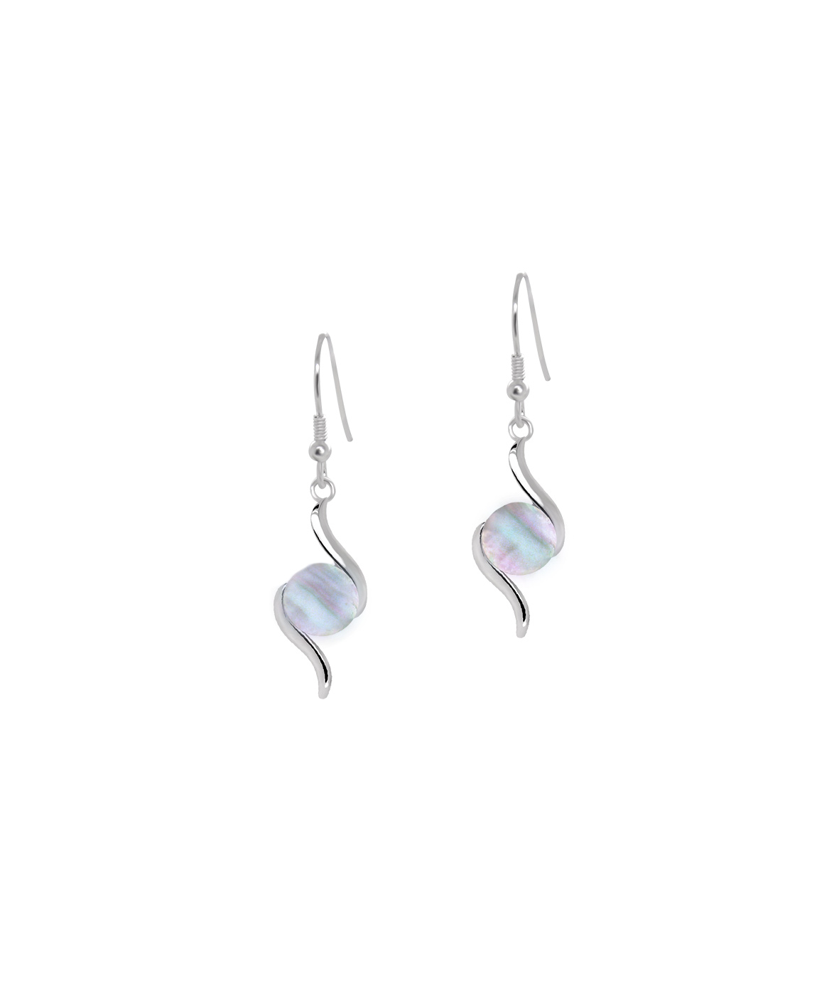 Jersey Ormer Double Swirl Earrings