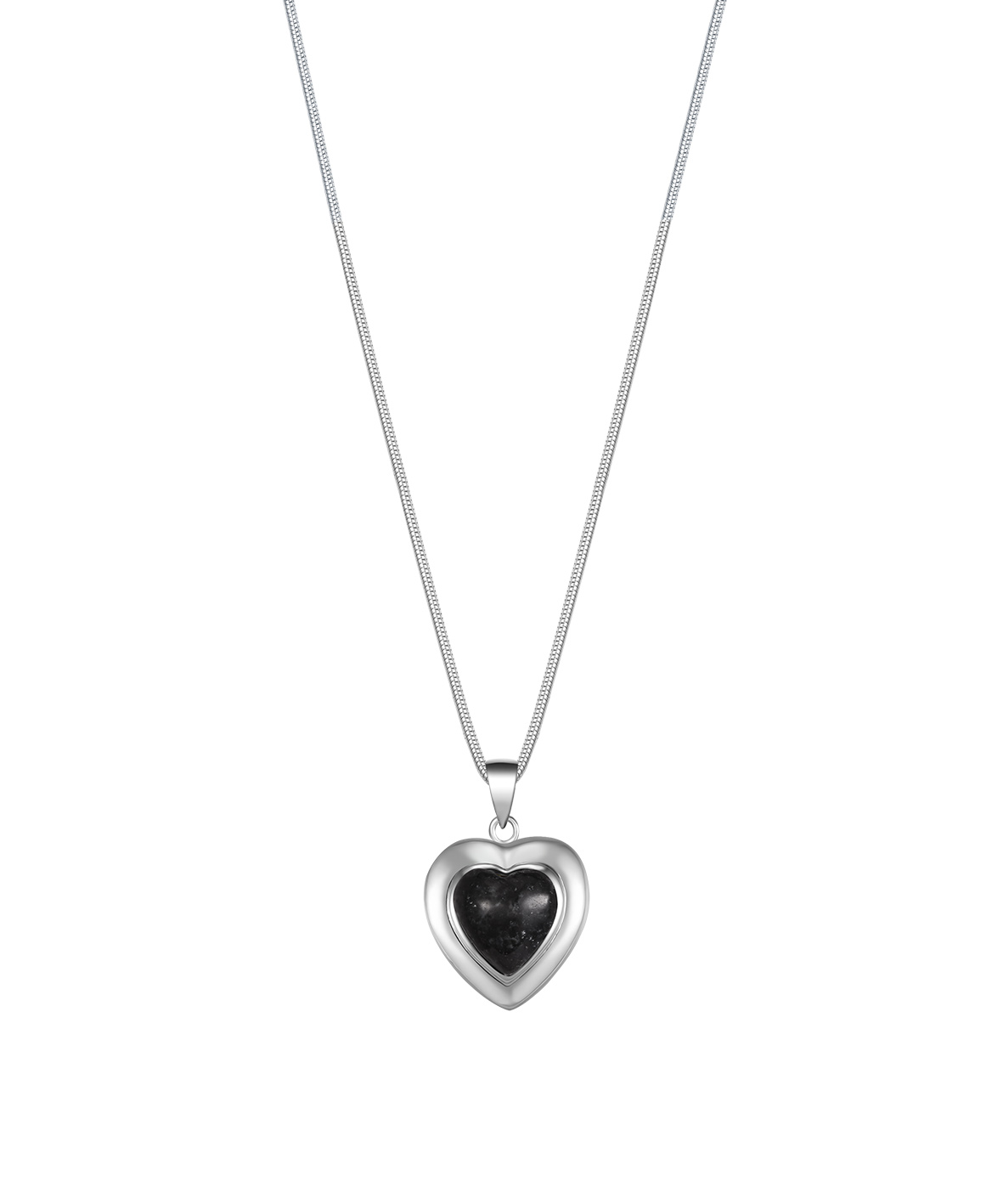 Jersey Granite Heart Necklace