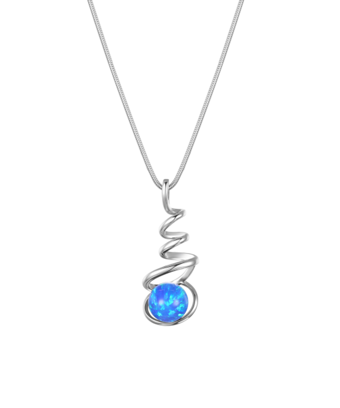 Spiral Opal Necklace